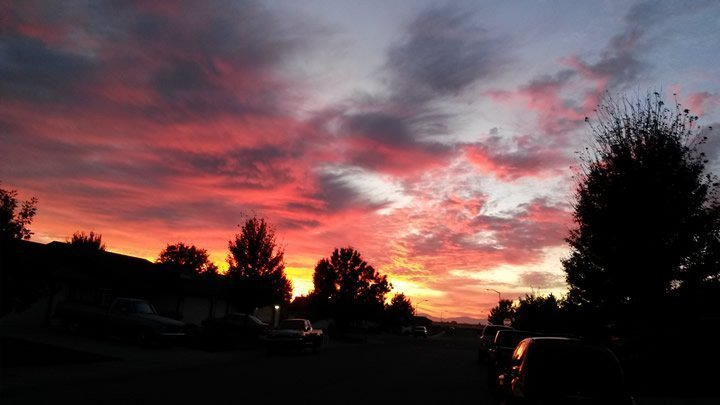 Sunset in Oroville